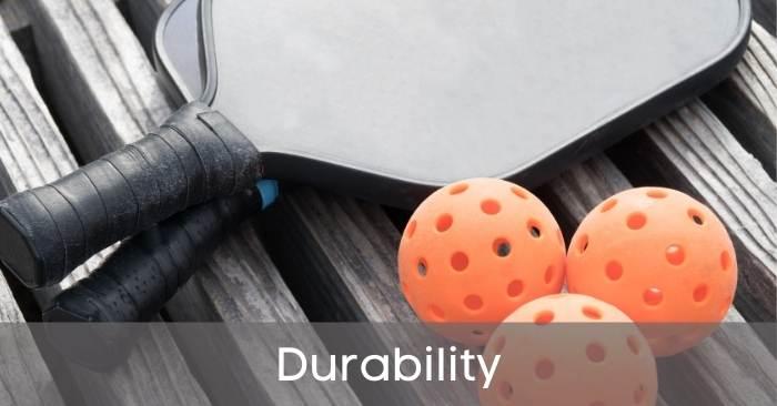 Graphite pickleball paddles Durability